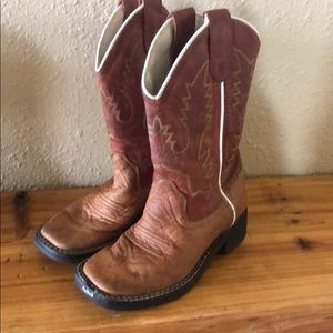 Old West Square Toe Toddler Boy Boots